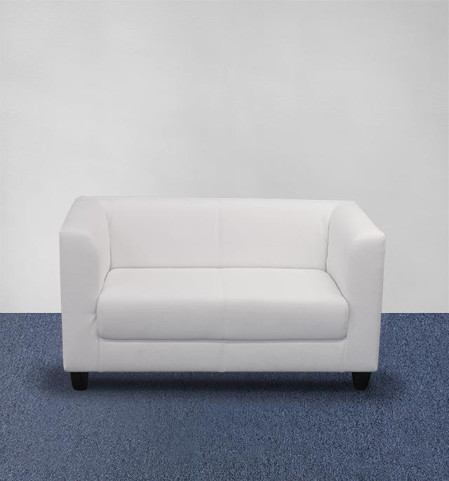 Sofa elegant 2er weiss