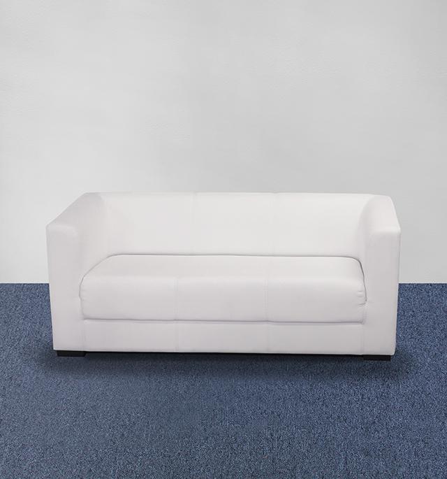 Sofa elegant 3er weiss