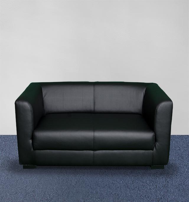 Sofa elegant 2er schwarz