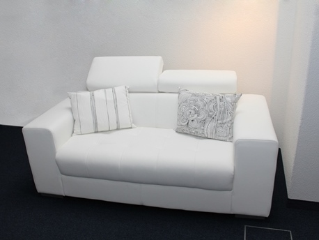 Sofa Kunstleder Weiss